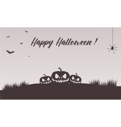 Happy halloween pumpkins backgrounds vector