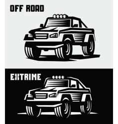 off-road suv car vector image