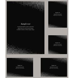 Black page corner design template set vector