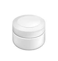blank cosmetic package container for cream vector image vector image