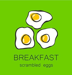 Breakfast scrambled eggs vector