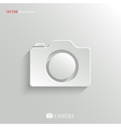 Camera icon - white app button vector