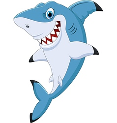 Cartoon funny shark posing vector image vector image