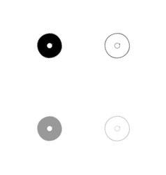 circular saw blade black and grey set icon vector image vector image