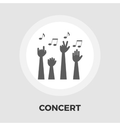 Concert flat icon vector