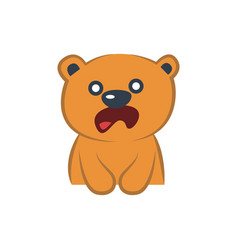 cute bear astonished vector image vector image