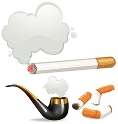 different types of cigarette vector image