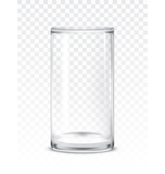 empty glass cup vector image vector image
