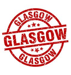 Glasgow red round grunge stamp vector