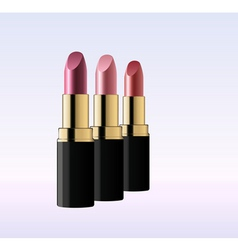 glossy lipsticks vector image vector image