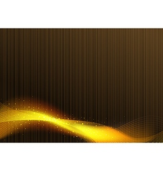 Glowing Lines over Brown Background vector image vector image