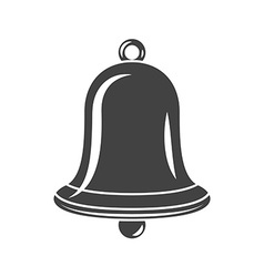 Hand bell black icon logo element flat isolated on vector