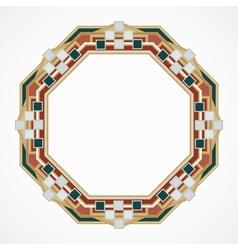 Handmaded octahedron frame from mosaic vector