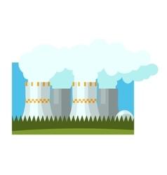 Industrial chimneys vector