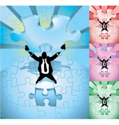 jigsaw business concept vector image vector image