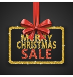 Merry Christmas Sale shiny design template Xmas vector image