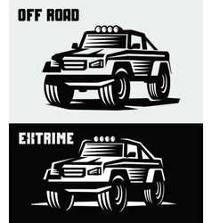 off-road suv car vector image
