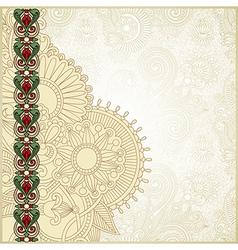 ornate grunge vintage template vector image vector image