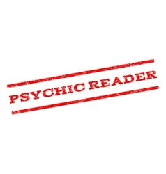 Psychic reader watermark stamp vector