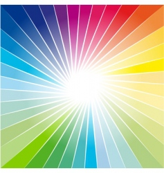 rainbow ray vector image vector image