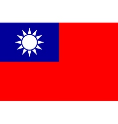 republic of china flag vector image vector image