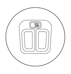 scale icon in outline style isolated on white vector image vector image