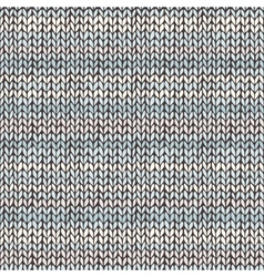 Seamless pattern with hand drawn knitted stripes vector image