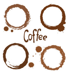 Set of coffee stains vector