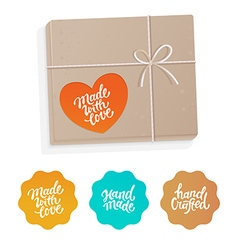 set of labels and badges for hand-made products vector image