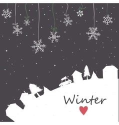 Snowfall on night mesh sky background vector