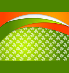 st patrick day background with irish flag colors vector image vector image