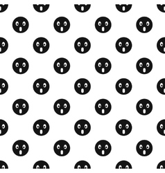 Surprised smiley pattern simple style vector