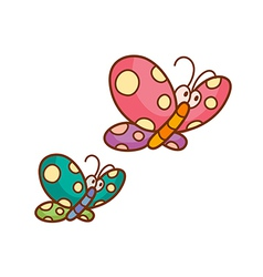 Two butterflies vector image vector image