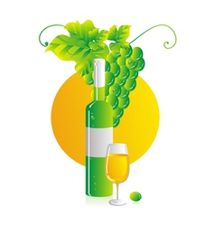 white wine vector image