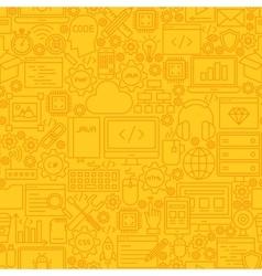 Programming yellow line tile pattern vector