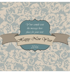 Happy New Year vintage card vector image