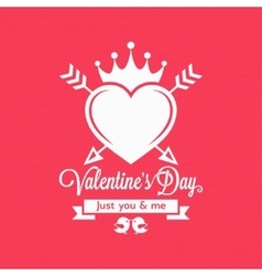 Valentines day vintage concept background vector