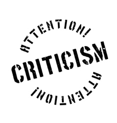 Criticism rubber stamp vector