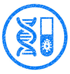 Hitech microbiology rounded grainy icon vector