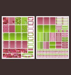 planner stickers vector image
