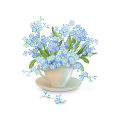 flowers in the cup vector image