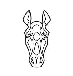 horse head stylization vector image