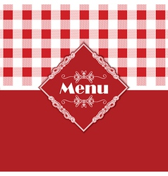 Gingham pattern menu design 1303 vector