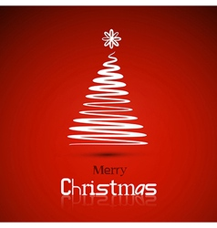 Christmas theme red background vector image