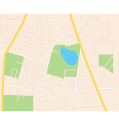City streets - plan vector