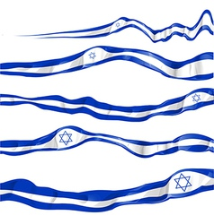 Israel flag set on white background vector
