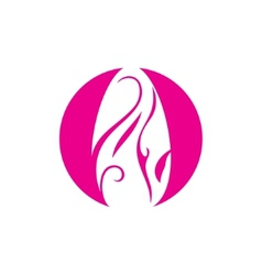 Nail manicure salon sign vector