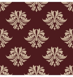 Beige and brown seamless arabesque pattern vector