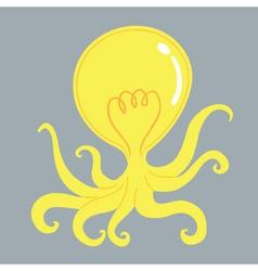 Octopus Bulb vector image
