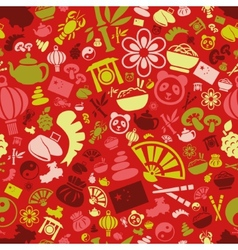 China seamless pattern vector